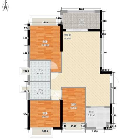 敏捷・四季花园3室0厅2卫1厨120.00㎡户型图