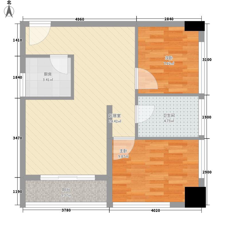 桐城36977.00㎡桐城369户型图精装A4户型2室1厅1卫1厨户型2室1厅1卫1厨