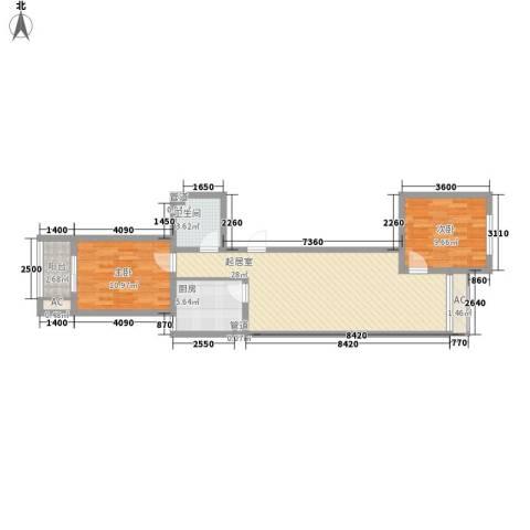 怡情雅居・相和园二期2室0厅1卫1厨91.00㎡户型图