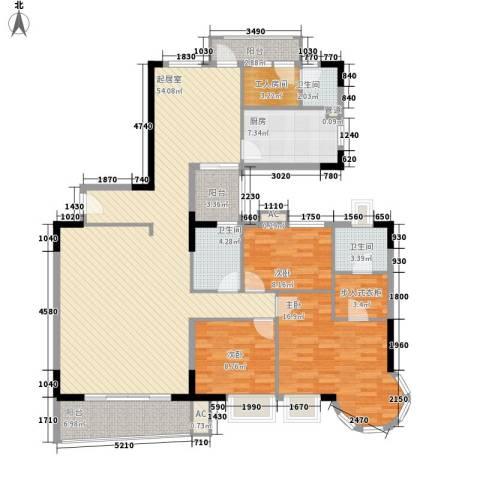 壹号公馆3室0厅3卫1厨178.00㎡户型图