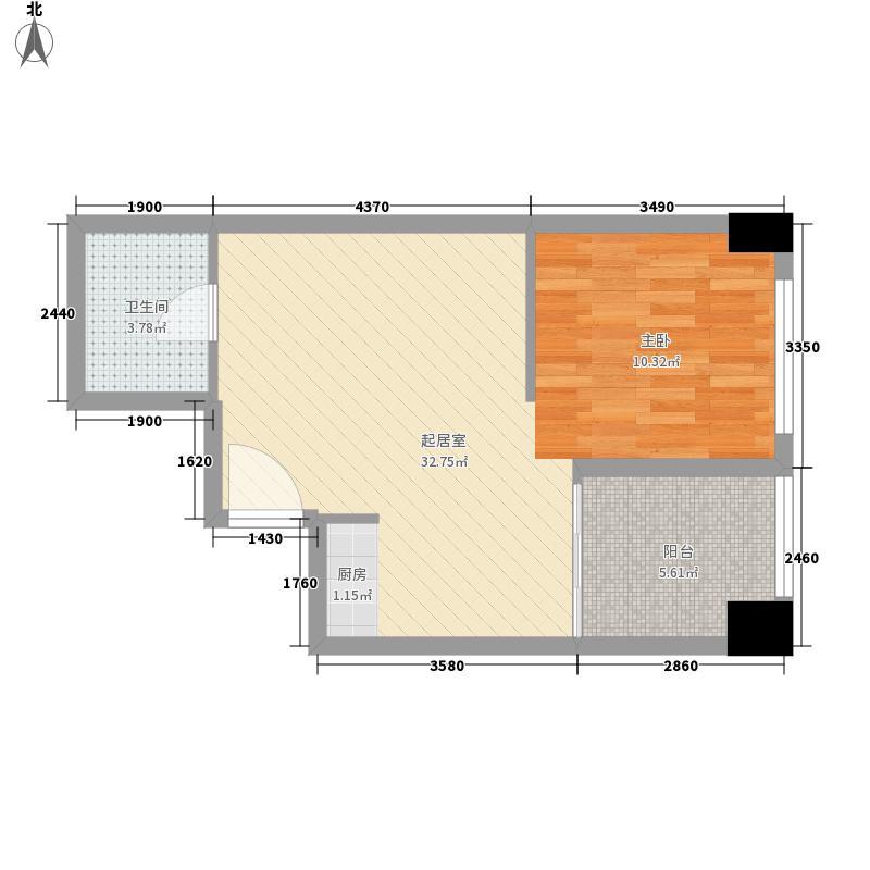 桐城36960.00㎡桐城369户型图精装A3户型1室1厅1卫1厨户型1室1厅1卫1厨