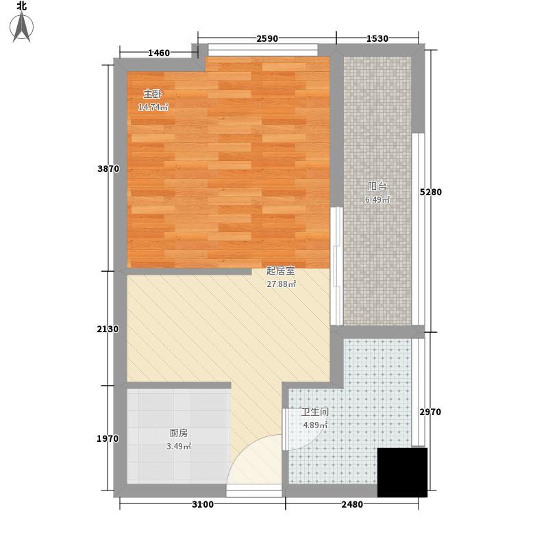 桐城36957.00㎡桐城369户型图精装A1户型1室1厅1卫1厨户型1室1厅1卫1厨