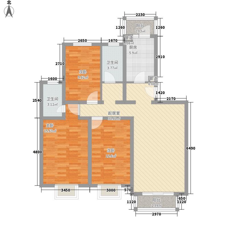 天使苑125.00㎡天使苑3室户型3室