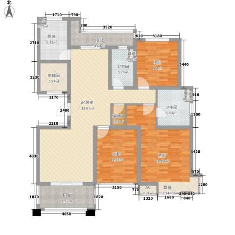 铭邦华府3室0厅2卫1厨138.00㎡户型图