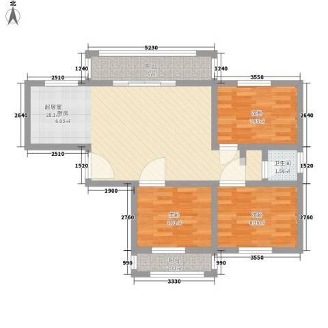 瑶东北村3室0厅1卫0厨89.00㎡户型图