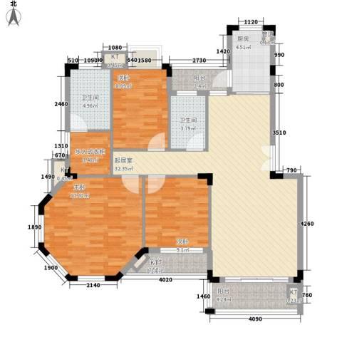 金椅豪园别墅3室0厅2卫1厨125.00㎡户型图