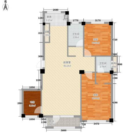 开发区山水家园3室0厅2卫0厨122.00㎡户型图