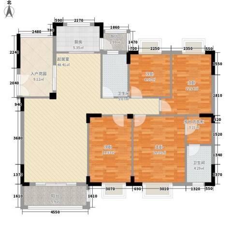 金椅豪园别墅4室0厅2卫1厨175.00㎡户型图