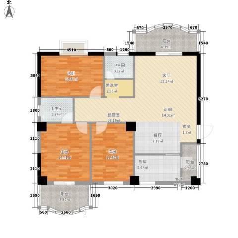 华韵花园别墅3室0厅2卫1厨144.00㎡户型图