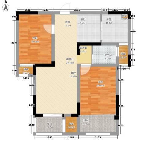 荣华世家2室1厅1卫1厨85.00㎡户型图