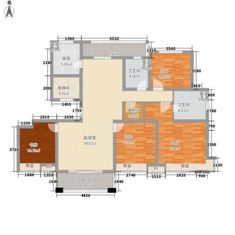 铭邦华府4室0厅2卫1厨164.00㎡户型图
