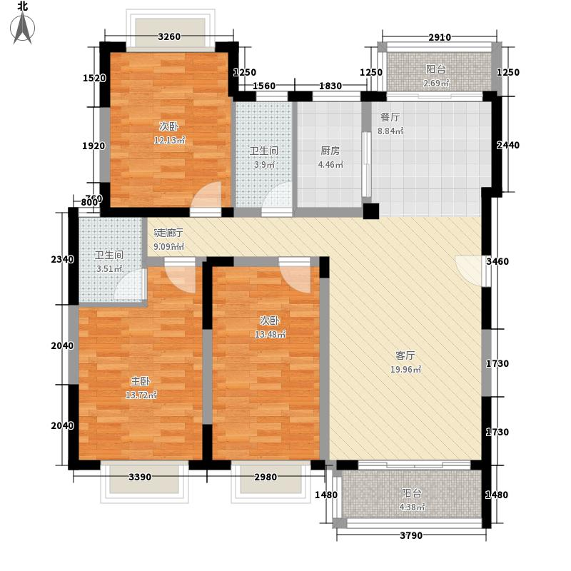 海关宿舍91.00㎡海关宿舍3室户型3室