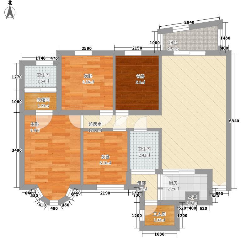 瑶东北村98.00㎡瑶东北村3室户型3室