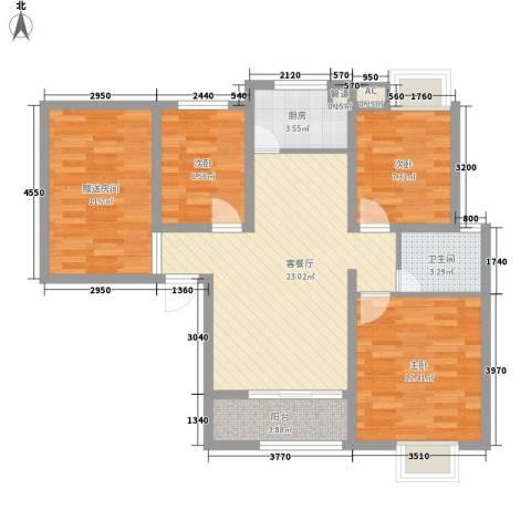 金域蓝郡3室1厅1卫1厨104.00㎡户型图