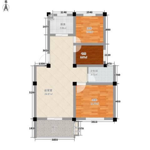 帝豪・星港湾3室0厅1卫1厨94.00㎡户型图
