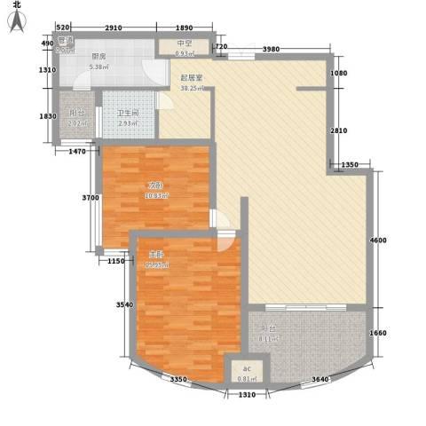 瑶东北村2室0厅1卫1厨85.28㎡户型图