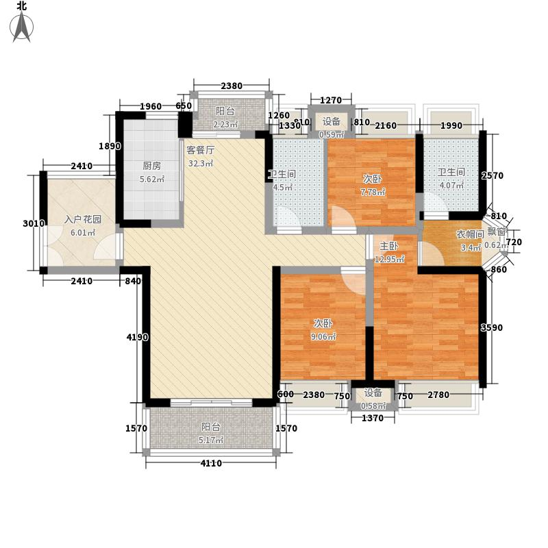 东莞长安万达广场131.00㎡东莞长安万达广场户型图1-9栋标准层D1户型3室2厅2卫1厨户型3室2厅2卫1厨