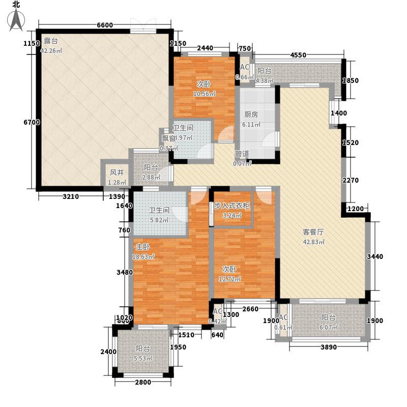 北大资源博雅一期奢景洋房二层端户户型3室2厅