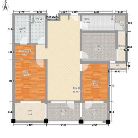 富力丹麦小镇别墅2室0厅2卫1厨110.00㎡户型图