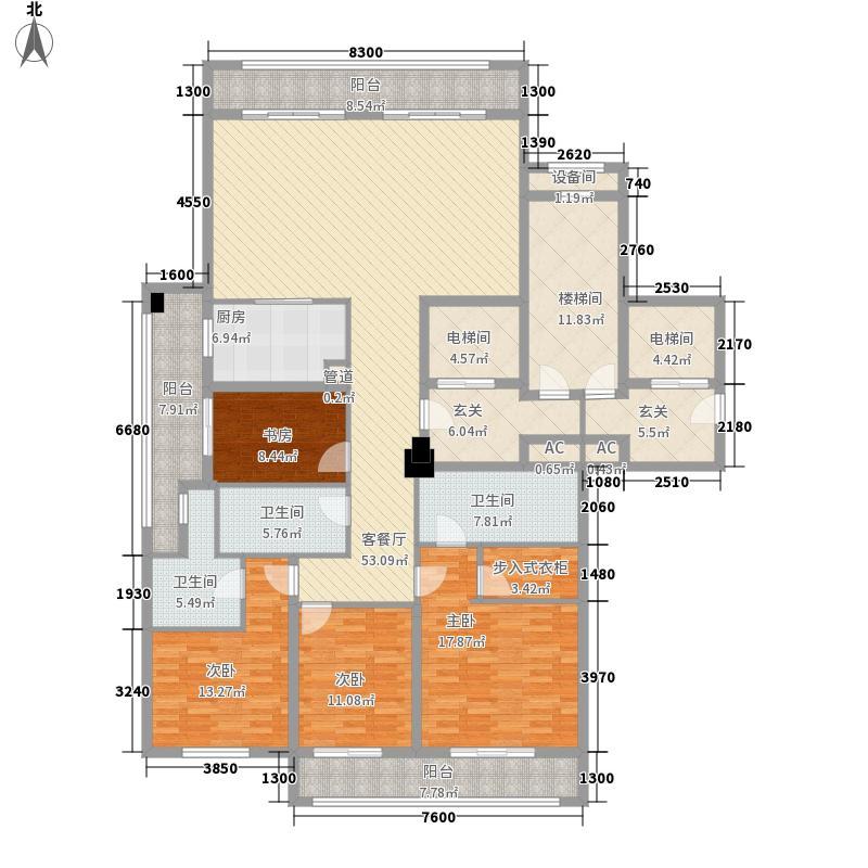 绿城西溪诚园一期E户型4室2厅