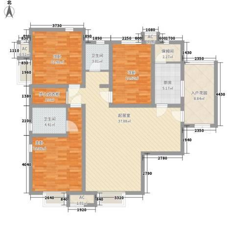 翰林观天下3室0厅2卫1厨153.00㎡户型图