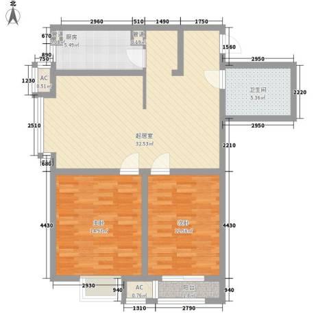 翰林观天下2室0厅1卫1厨109.00㎡户型图