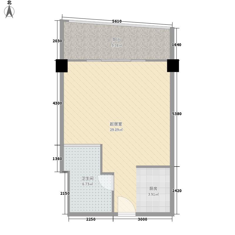 昌建·逸海国际广场70.90㎡昌建・逸海国际广场酒店公寓18层豪华套房户型