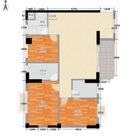 海是天下别墅3室0厅2卫1厨132.00㎡户型图