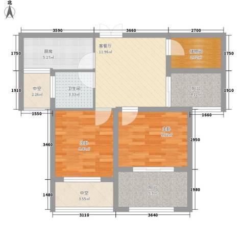 荣昌绿园2室1厅1卫1厨78.00㎡户型图