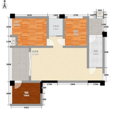 尚高・锦都3室0厅1卫1厨105.00㎡户型图