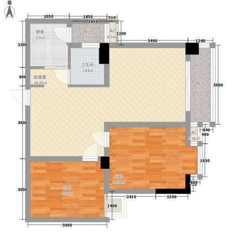 尚高・锦都2室0厅1卫1厨93.00㎡户型图