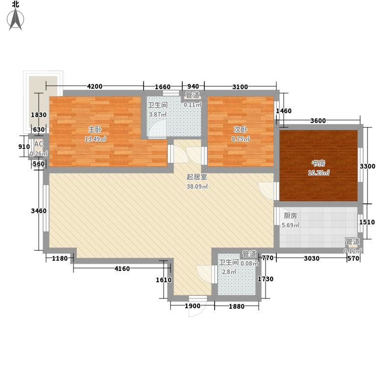 锦湖花园123.91㎡锦湖花园户型图13室2厅2卫123.91㎡户型3室2厅2卫