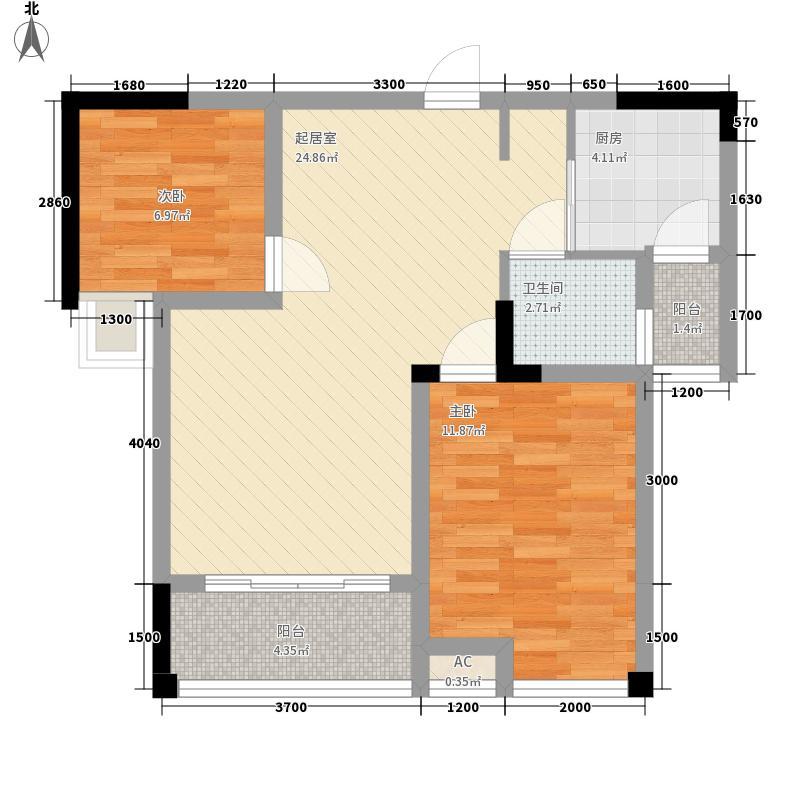 尚高・锦都尚高・锦都户型图4号楼23二室二厅一卫2室2厅1卫户型10室