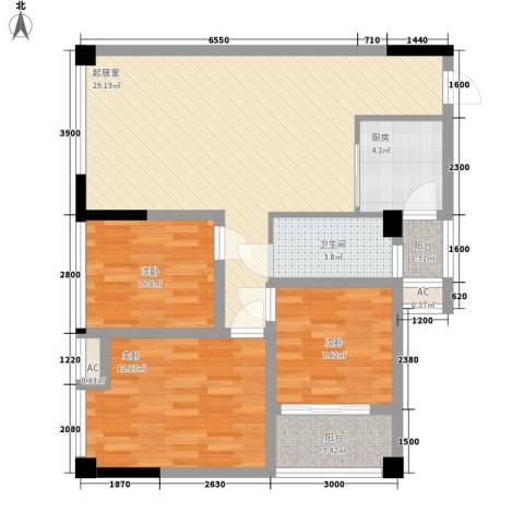 尚高・锦都3室0厅1卫1厨103.00㎡户型图