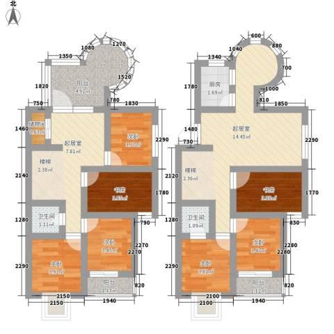 帝豪・星港湾7室0厅2卫1厨95.00㎡户型图