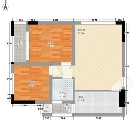 尚高・锦都2室0厅1卫1厨75.00㎡户型图