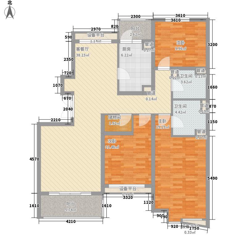 嘉铭园户型3室2厅2卫1厨