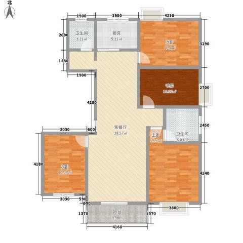 兴港商城4室1厅2卫1厨118.00㎡户型图