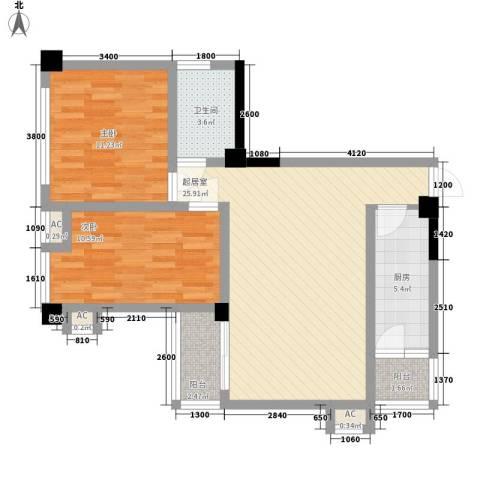 尚高・锦都2室0厅1卫1厨91.00㎡户型图