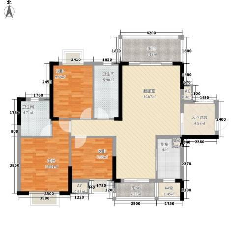 劲嘉山与城3室0厅2卫1厨134.00㎡户型图