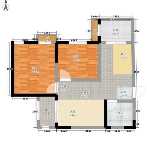 莱茵小城2室0厅1卫1厨79.00㎡户型图