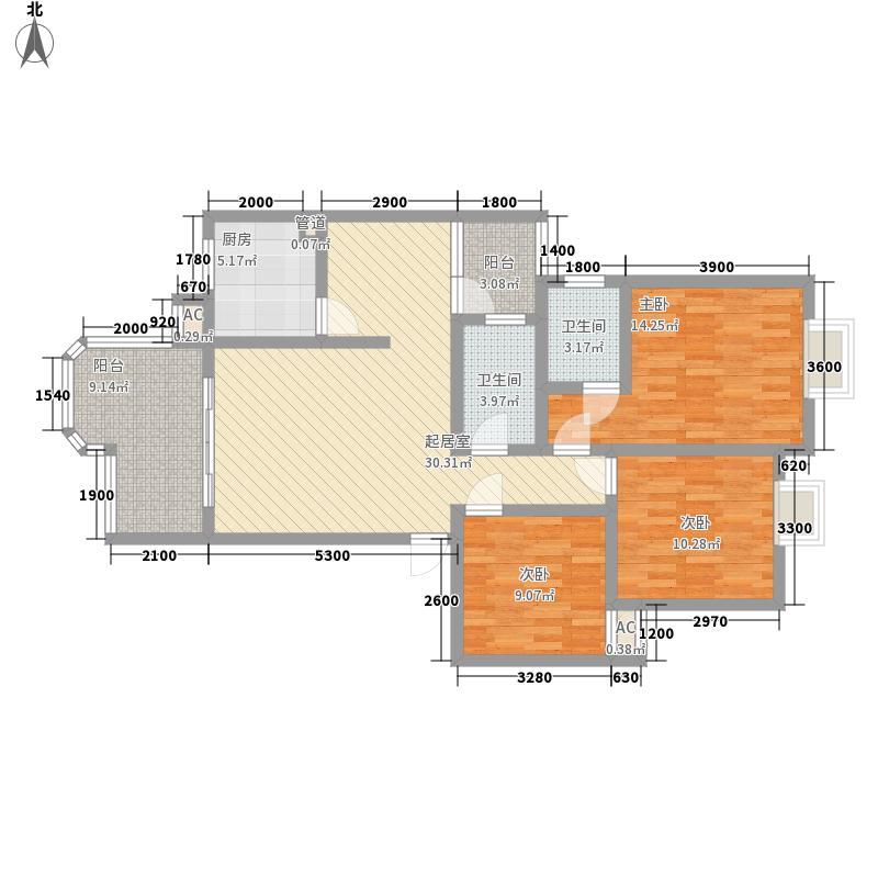 东方俪城106.92㎡东方俪城户型图3室2厅2卫1厨106.92㎡户型3室2厅2卫1厨