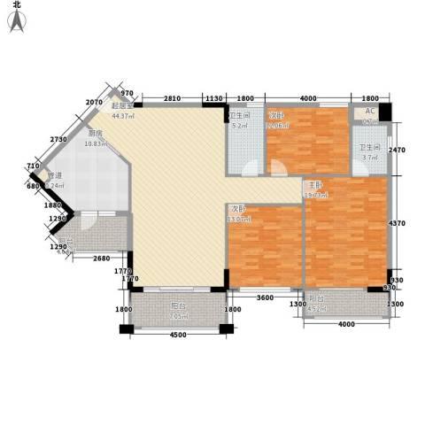 雅宝新城别墅3室0厅2卫1厨174.00㎡户型图