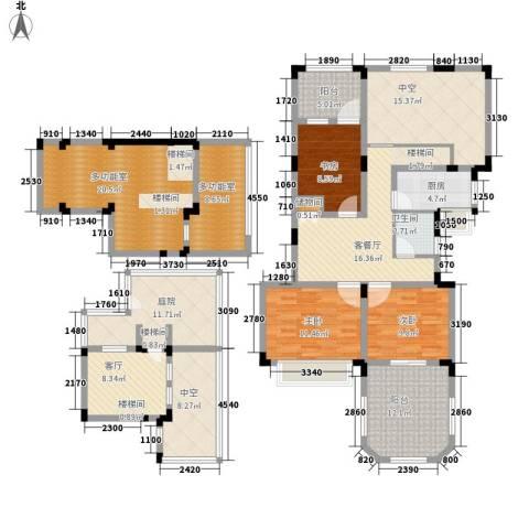 申亚花满庭3室2厅1卫1厨144.07㎡户型图