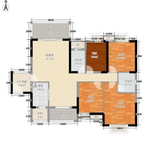 劲嘉山与城4室0厅2卫1厨163.00㎡户型图