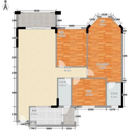 雅宝新城别墅3室0厅2卫1厨170.00㎡户型图