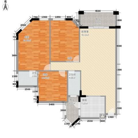 雅宝新城别墅3室0厅2卫1厨164.00㎡户型图