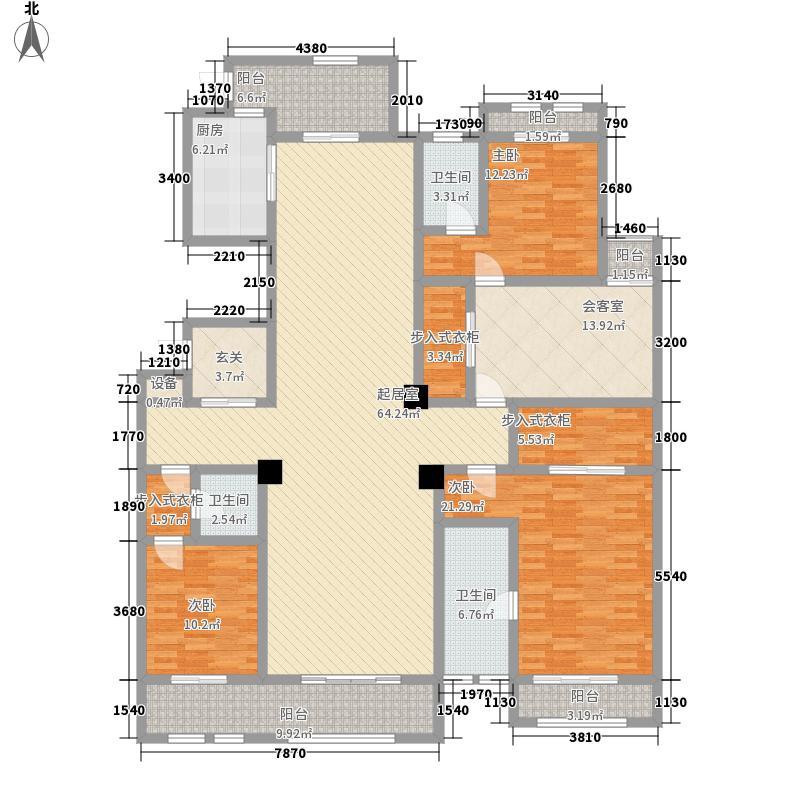 巨凝金水岸260.00㎡C户型3室3厅