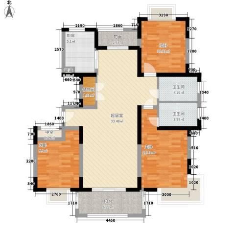 润和苑别墅3室0厅2卫1厨133.00㎡户型图