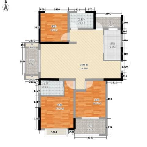 国基桂花小镇3室0厅2卫1厨131.00㎡户型图